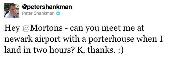 Peter's tweet